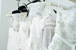 Sarah Houston's boutique in Yorkville has a wide selection of bridal wear.