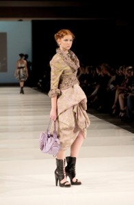 A model walks for Samuel Dong at the Ottawa Fashion Week in fall 2011.