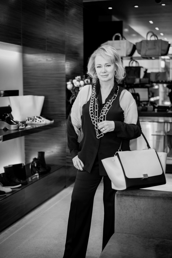 Dickinson poses for FAJO at 119 Corbo in Yorkville - one of her favourite Toronto boutiques.