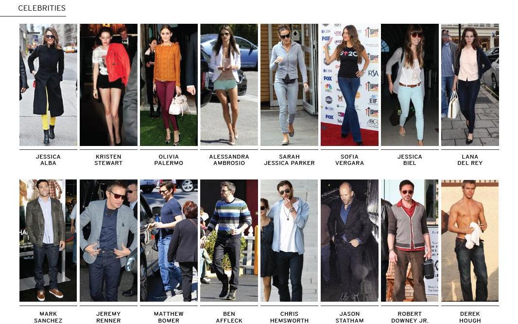 Celebrities in Hudson Jeans