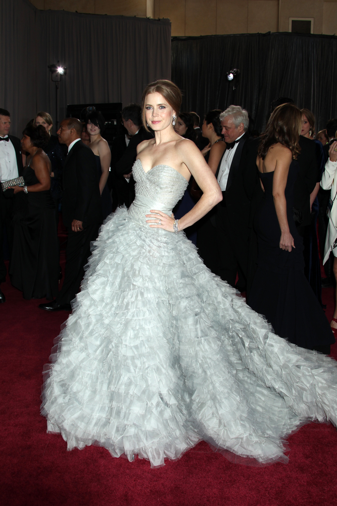 Amy Adams at the Academy Awards in Oscar de la Renta.