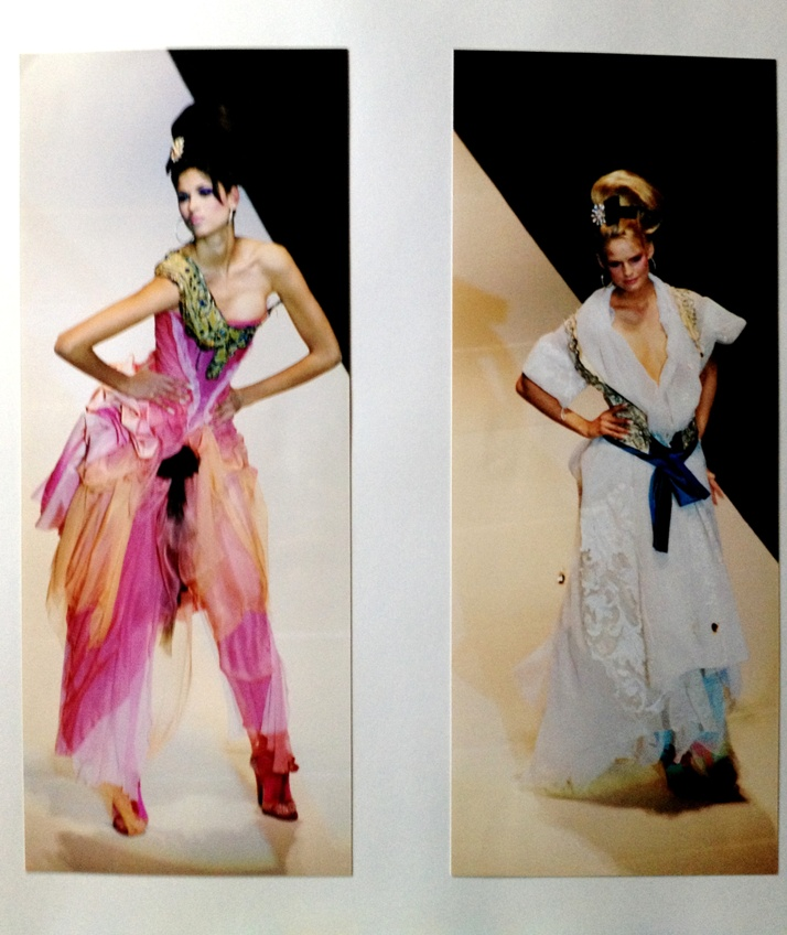 Lacroix couture show. You may recognize the dress on the right, as  Uma Thurman wore it to the Oscars. Everyone hated it but I never did because I remembered how good it looked on the model. Dubai, 2004.