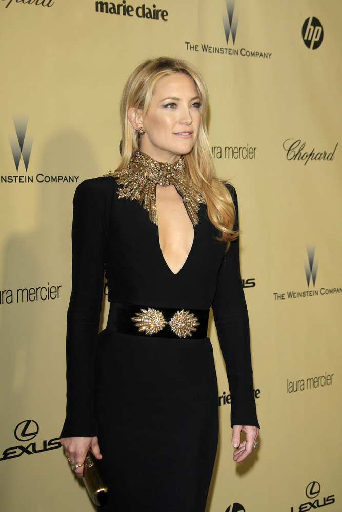 Kate Hudson at the Golden Globes in Alexander McQueen.