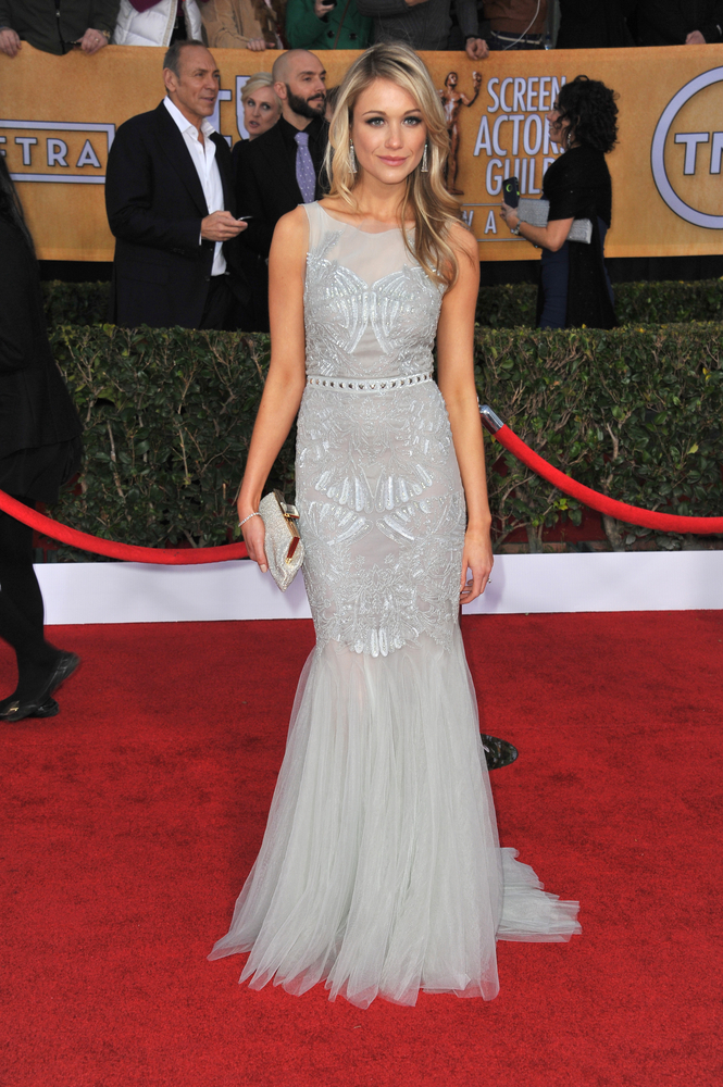 Katrina Bowden at the Screen Actors' Guild Awards in Badgley Mischka.