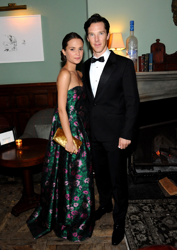 Alicia Vikander (left) and Benedict Cumberbatch.
