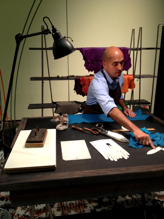 Learning all about Hermès glove-making process.