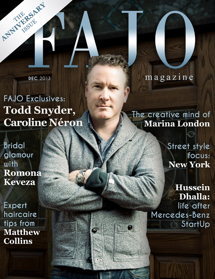 Todd Snyder is on the cover of our November 2013 issue.