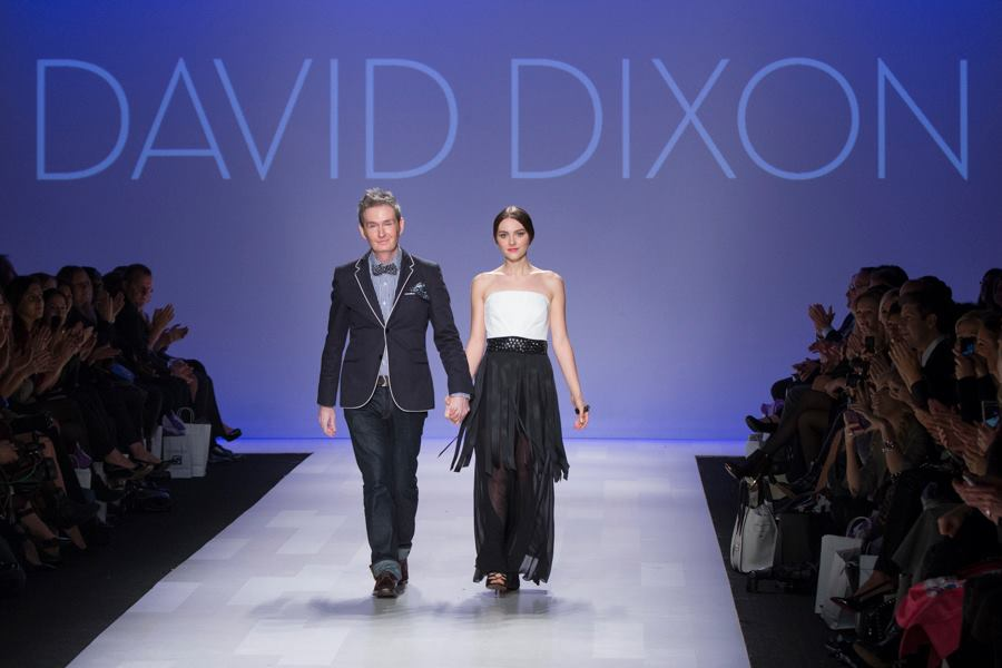 Rogers with David Dixon at the end of his show at World MasterCard Fashion Week this season.