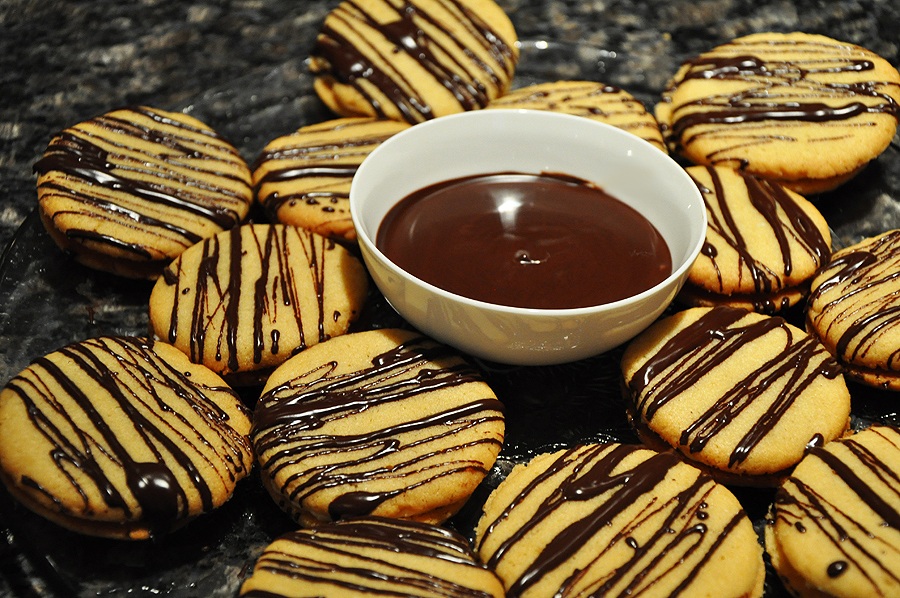 """Nobody can say """"no"""" to cookies with chocolate."""