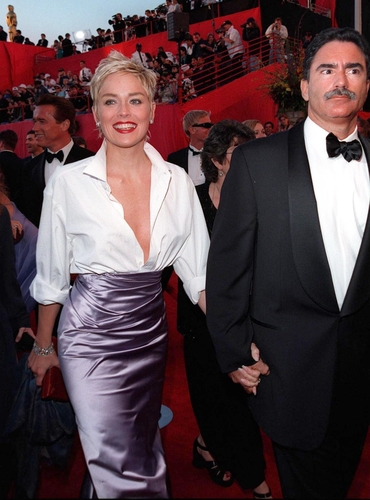Sharon Stone looks radiant in this elegant and sexy outfit. Featureflash / Shutterstock.com