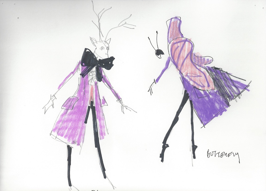 Mizrahi's sketches for The Magic Flute at The Opera House of St. Louis, which debuts May 24, 2014.