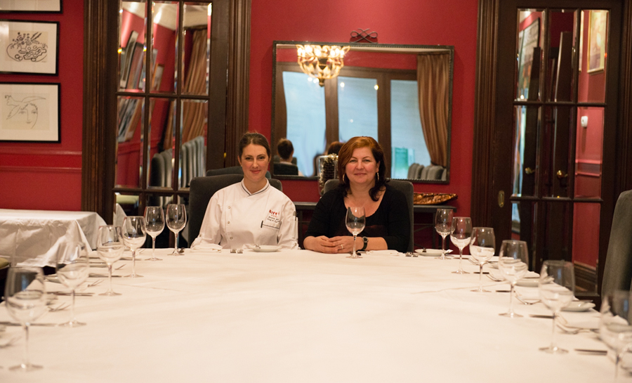 Chef de cuisine Amanda Ray (left) poses with general manager Judith Sloan at Biff's Bistro.