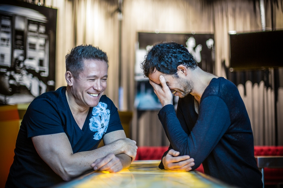 Friends and colleagues: the Cosmic Gate boys are an easygoing duo.