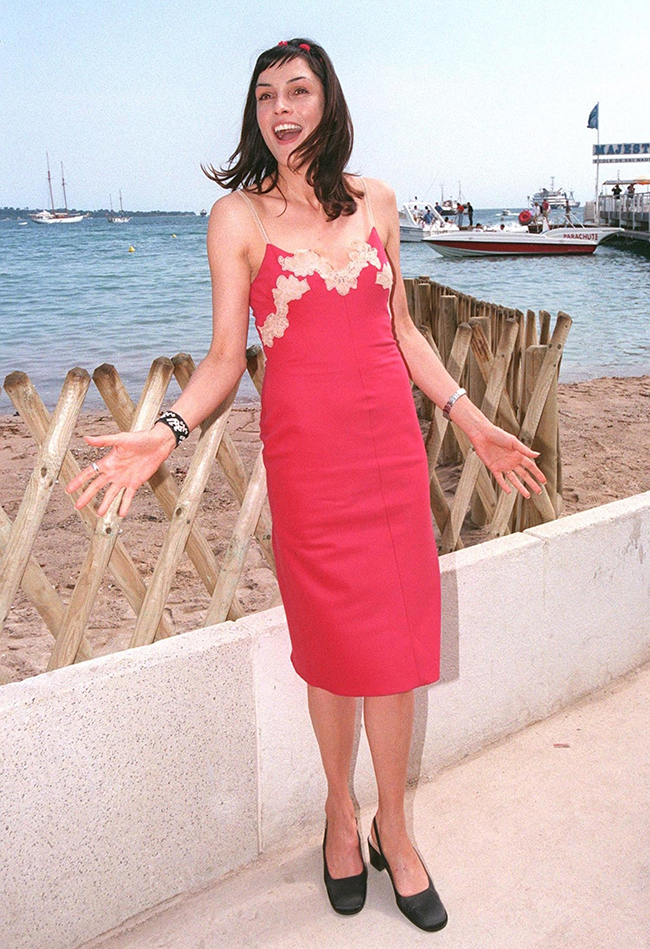 Fun flashback: Janssen has been in many Hollywood films throughout her career, including X-Men. A regular on Red Carpets, she is seen here back in 1998 at the Miramax Films party at the Cannes Film Festival.Featureflash / Shutterstock.com