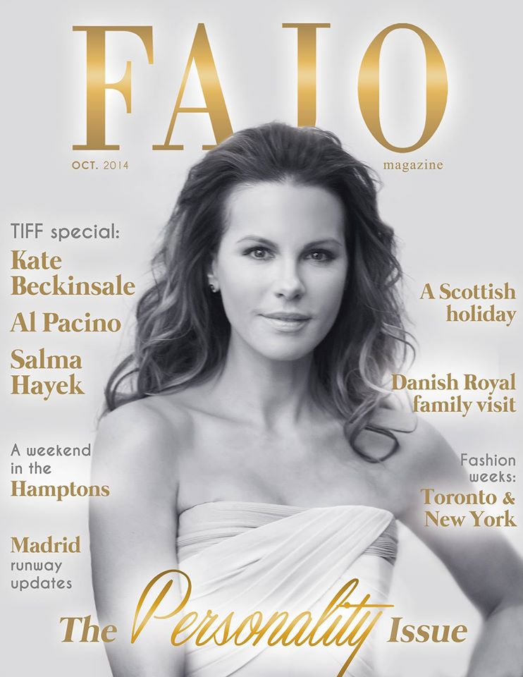 Kate Beckinsale graces the cover of The Personality Issue this month.