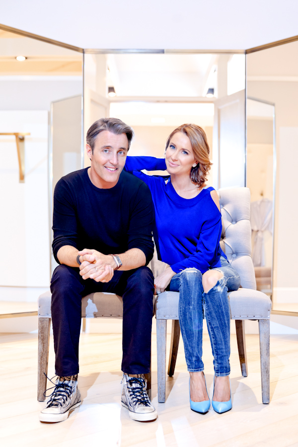 The happy couple poses at Kleinfeld in Toronto.