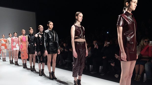 Mikhael Kale's fall/winter 2015 runway presentation at Toronto Fashion Week.