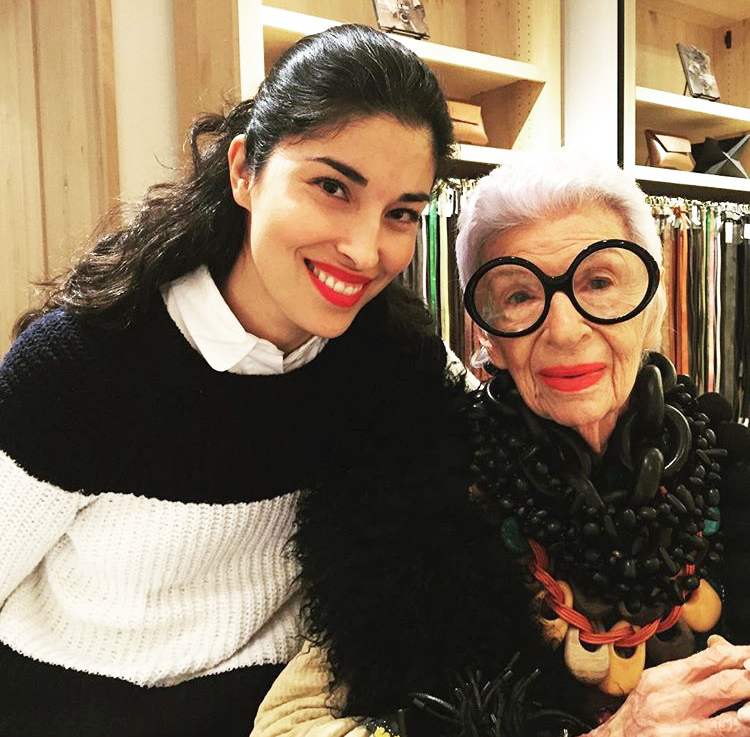 Caroline Issa and the eponymous Iris Apfel