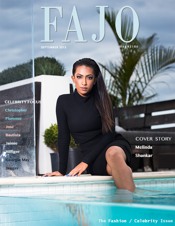 Melinda Shankar is on the cover of this month's The Fashion / Celebrity Issue.