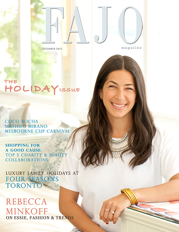 Rebecca Minkoff is on the cover of The Holiday Issuethis month.