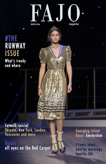 The cover of The Runway Issue this month.