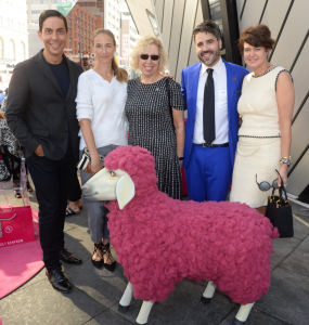 From left to right: John Muscat (2016 Wool Chair), Alexandra Weston (Holt Renfrew), Amanda L. Sherrington (Prince's Charities Canada), Matthew Rowe (Prince's Charities Canada) and Kimberley Newport-Mimran (Wool Chair 2015).