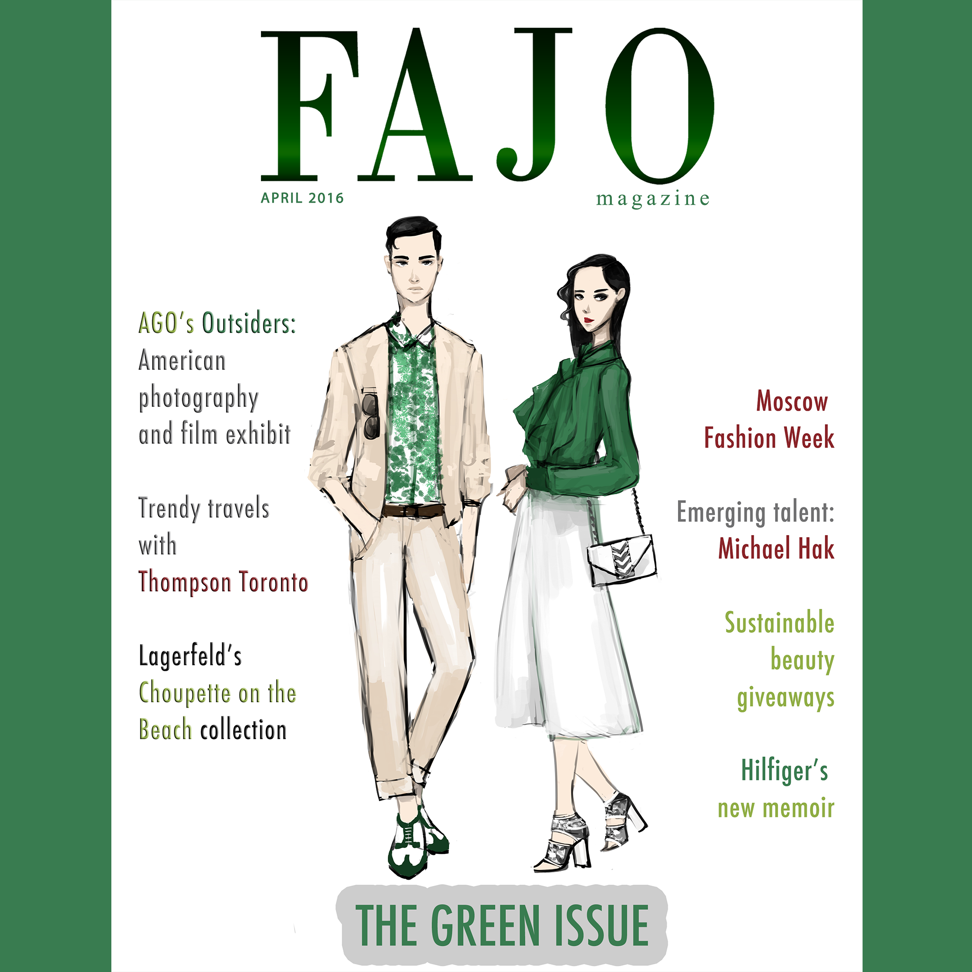 For The Green Issue, Hak created several exclusive illustrations for FAJO, including the one on the cover.