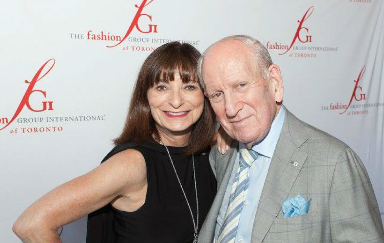 Rosen at the same event with renowned Canadian fashion journalist, Jeanne Beker.