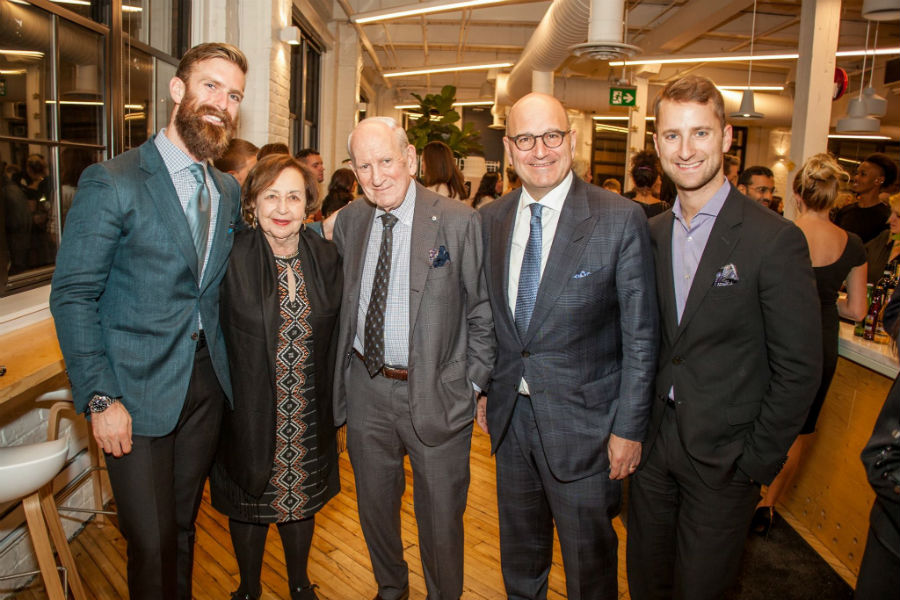 Harry Rosen at the FGI Awards, with his family. He was honoured with the FGI Fashion Visionary Award in late October 2016. Photo courtesy of FGI Toronto.