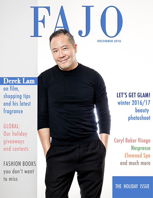 Derek Lam is on the cover of The Holiday Issue this month.