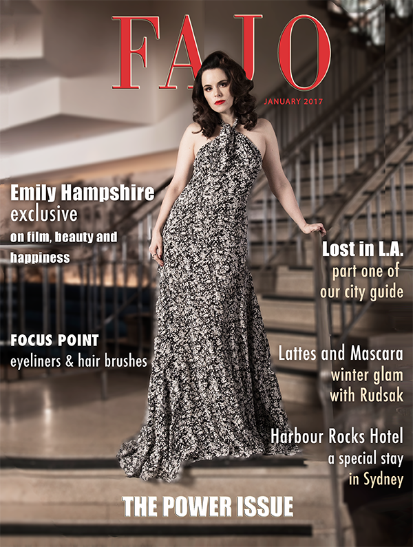 Emily Hampshire is on the cover of The Power Issue this month. Hampshire is wearing a dress by Derek Lam.