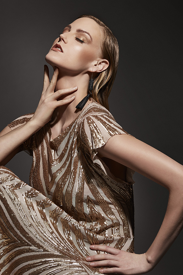 Earrings - Toknii, dress - Lesley Hampton.