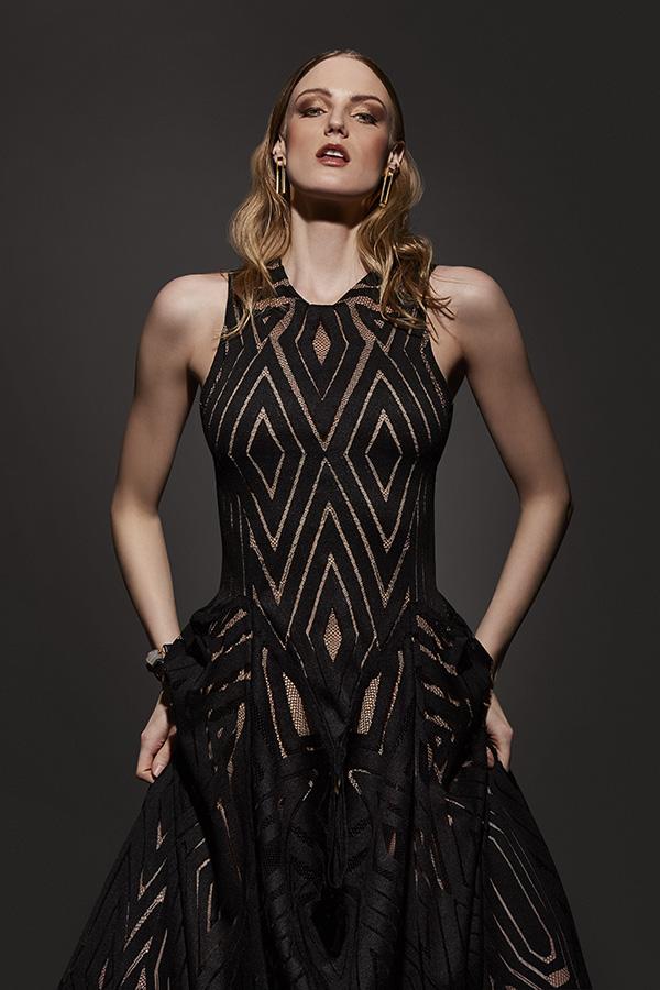 Earrings - Monoxide Style, dress - Lesley Hampton.