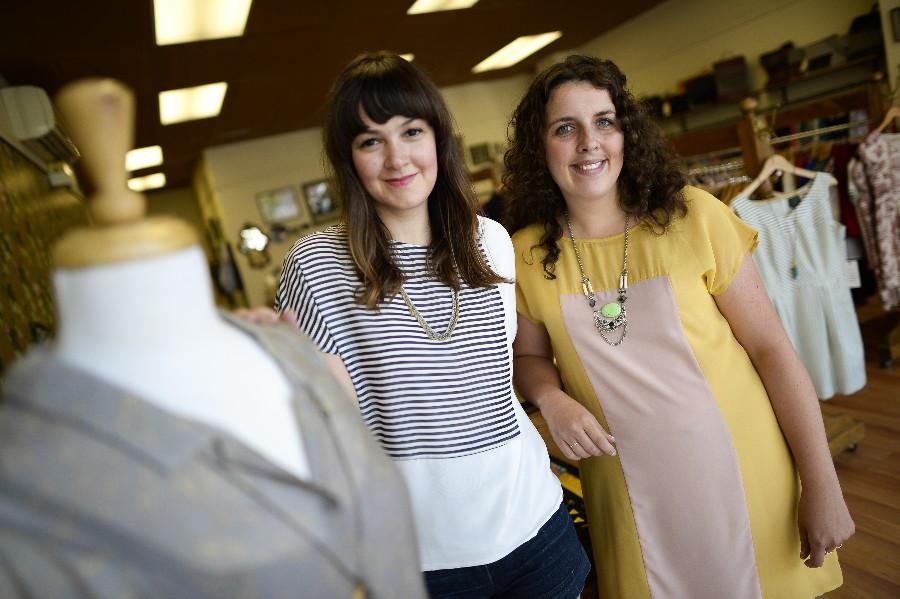 Katie Frappier (left) and Régine Paquette.