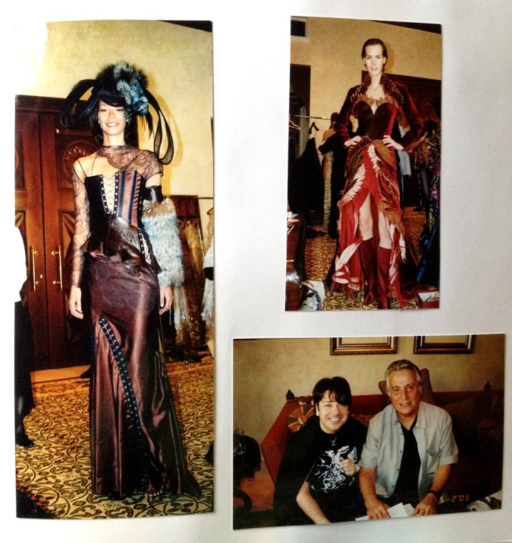 Behind The Scenes with Russia's top designer Valentin Yudashkin. I was the only journalist allowed backstage. Not sure what year this was in. I think it was in 2003.