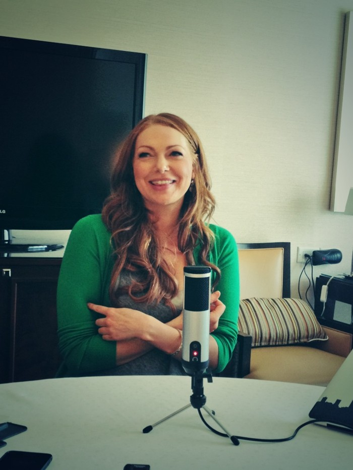 Laura Prepon laughs during our interview.