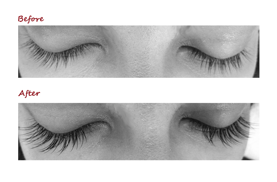 Take a look at what my lashes looked like before and after the Winks extensions were applied.