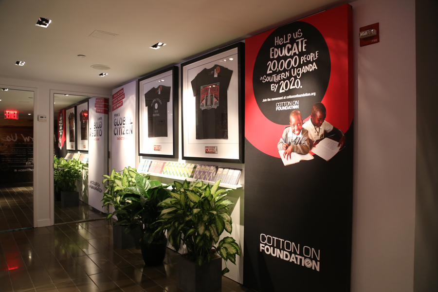 One of the displays at the pop-up shop.