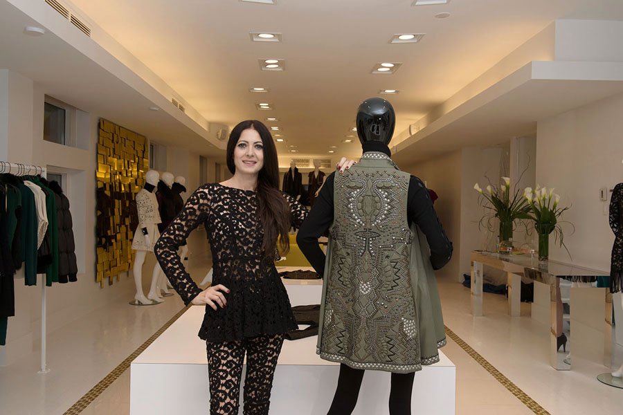 The designer's first Canadian boutique opened on November 19 in Montreal.