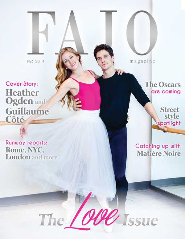 Heather Ogden (left) and Guillaume Côté are on the cover of The Love Issue this month.