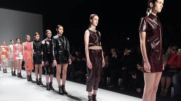Mikhael Kale's fall/winter 2015 runway presentation at Toronto Fashion Week.