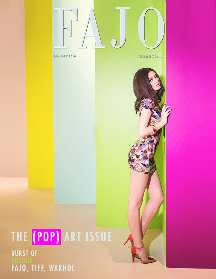 The photoshoot is on the cover of this month's The (Pop) Art Issue.
