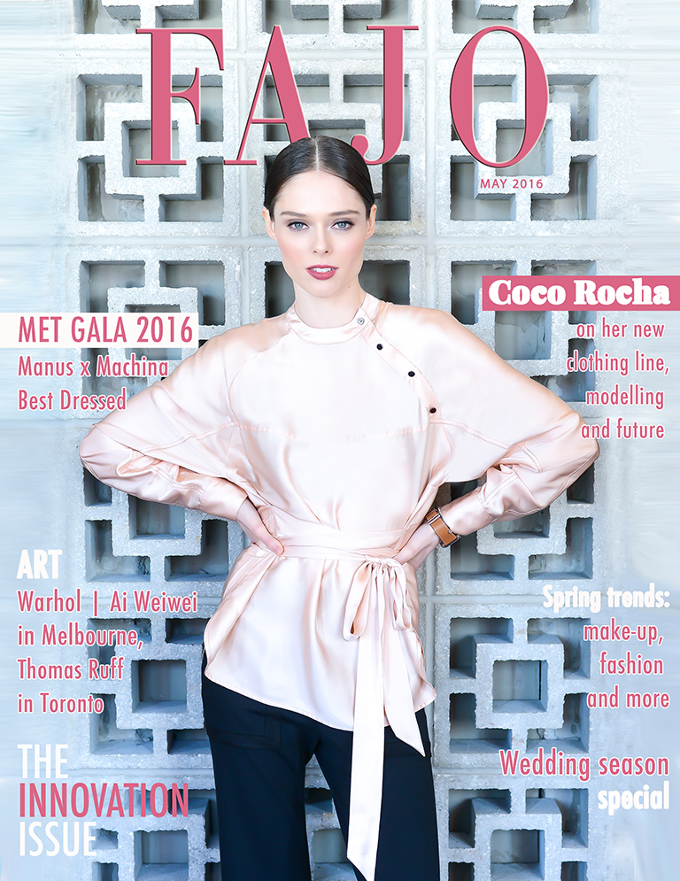 Coco Rocha on the cover of The Innovation Issue.
